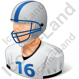 Football Player Male Light Icon