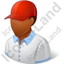Golf Player Male Dark Icon