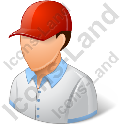 Golf Player Male Light Icon