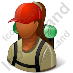 Hiker Female Dark Icon