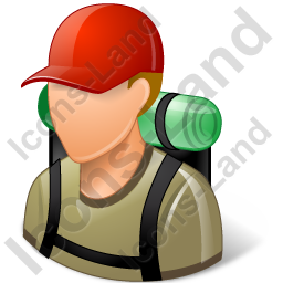 Hiker Male Light Icon