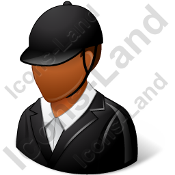 Jockey Male Dark Icon, PNG/ICO, 256x256