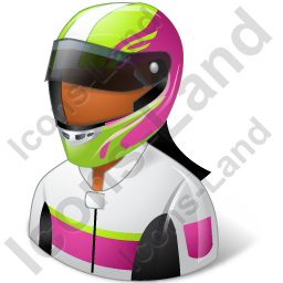 Race Car Driver Female Dark Icon, PNG/ICO, 256x256