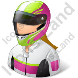 Race Car Driver Female Light Icon
