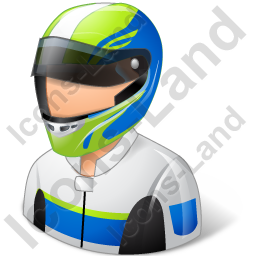 Race Car Driver Male Light Icon
