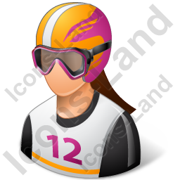 Skier Female Light Icon