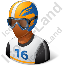 Skier Male Dark Icon