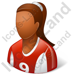 Soccer Player Female Dark Icon