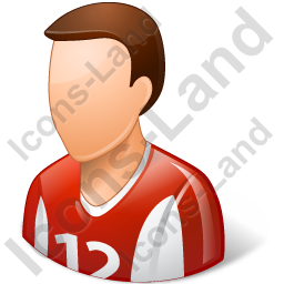 Soccer Player Male Light Icon, PNG/ICO, 256x256