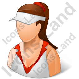 Tennis Player Female Light Icon