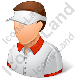 Tennis Player Male Light Icon