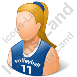 Volleyball Player Female Light Icon