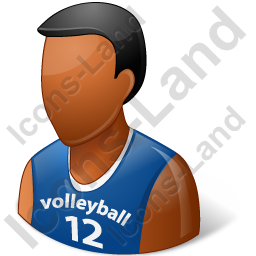Volleyball Player Male Dark Icon, PNG/ICO, 256x256