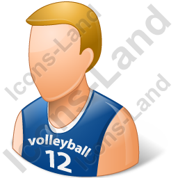 Volleyball Player Male Light Icon