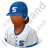 Baseball Player Female Dark Icon, PNG/ICO, 48x48