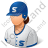 Baseball Player Female Light Icon