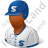Baseball Player Male Dark Icon