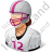 Football Player Female Light Icon, PNG/ICO, 48x48