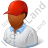 Golf Player Male Dark Icon, PNG/ICO, 48x48