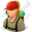 Hiker Female Light Icon