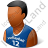 Volleyball Player Male Dark Icon, PNG/ICO, 48x48
