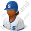 Baseball Player Female Dark Icon, PNG/ICO, 64x64