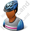 Cyclist Male Dark Icon