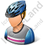 Cyclist Male Light Icon