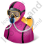 Diver Female Light Icon