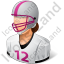 Football Player Female Light Icon, PNG/ICO, 64x64