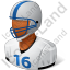 Football Player Male Dark Icon