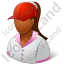 Golf Player Female Dark Icon