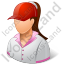 Golf Player Female Light Icon