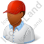 Golf Player Male Dark Icon, PNG/ICO, 64x64