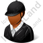 Jockey Male Dark Icon, PNG/ICO, 64x64