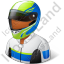 Race Car Driver Male Dark Icon