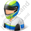 Race Car Driver Male Light Icon, PNG/ICO, 64x64