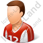 Soccer Player Male Light Icon, PNG/ICO, 64x64