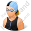 Swimmer Female Light Icon