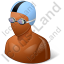 Swimmer Male Dark Icon, PNG/ICO, 64x64