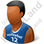 Volleyball Player Male Dark Icon, PNG/ICO, 64x64
