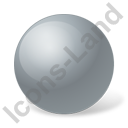Ball Grey Icon, PNG/ICO, 128x128