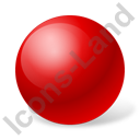 Ball Red Icon, PNG/ICO, 128x128