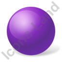 Ball Violet Icon, PNG/ICO, 128x128