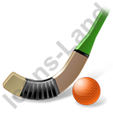 Bandy Stick Ball Icon, PNG/ICO, 128x128