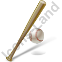 Baseball Bat Ball Icon, PNG/ICO, 128x128