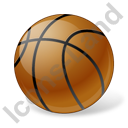 Basketball Ball Icon, PNG/ICO, 128x128