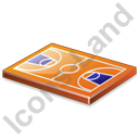Basketball Court Icon, PNG/ICO, 128x128