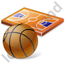 Basketball Court Ball Icon