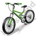 Bicycling Mountain Bike Icon, PNG/ICO, 128x128